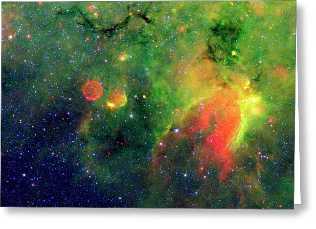 Galactic Snake In Infrared Milky Way Greeting Card by Mark Kiver