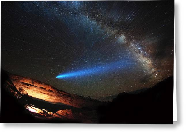 Galactic Traveler Greeting Card by Darren White