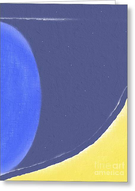 Abstract Expression Greeting Cards - Galactic Visions no.1 Greeting Card by Violeta Bocage