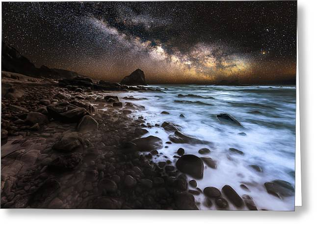 Galactic Warmth Greeting Card by Nick Venton
