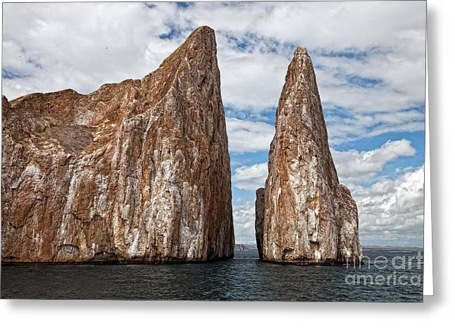 Monolith Greeting Cards - Galapagos Volcanic Monoliths Greeting Card by Timothy Hacker