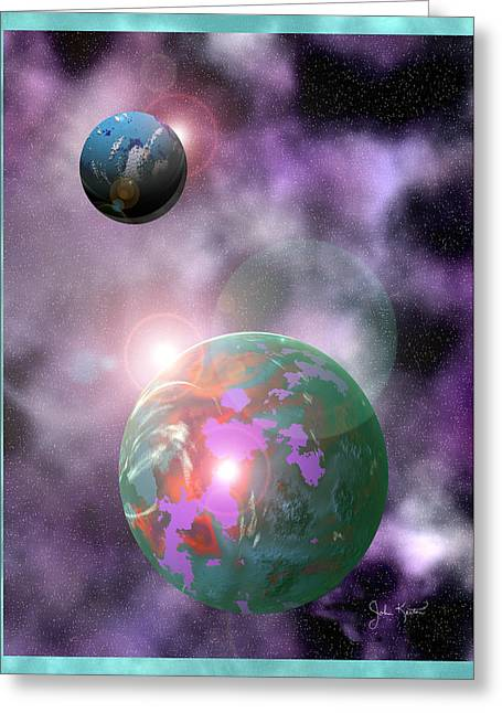 Galaxy 1 Greeting Card by John Keaton
