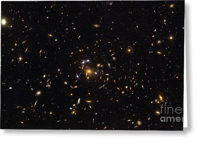 Galaxy Cluster, Sdss J1004+4112 Greeting Card by Science Source