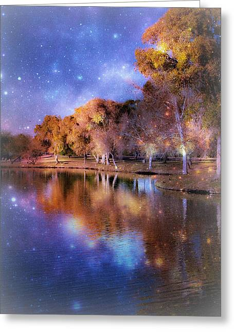 Galaxy Greeting Card by Lisa S Baker