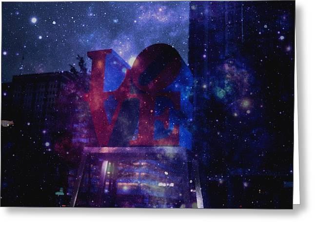 Galaxy Love Greeting Card by Brynn Ditsche
