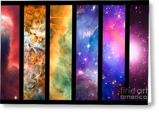 Constellations Greeting Cards - Space rainbow Greeting Card by Delphimages Photo Creations