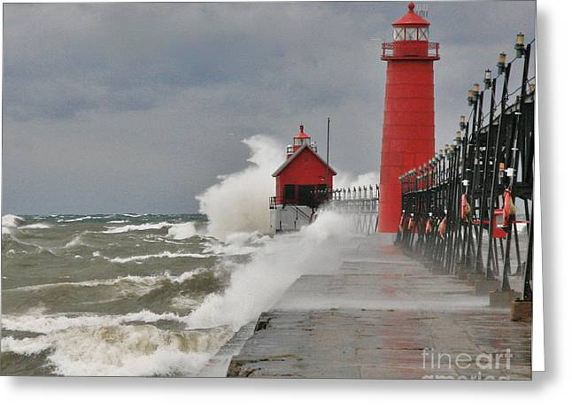 Beach Photograph Greeting Cards - Gale warnings Greeting Card by Robert Pearson