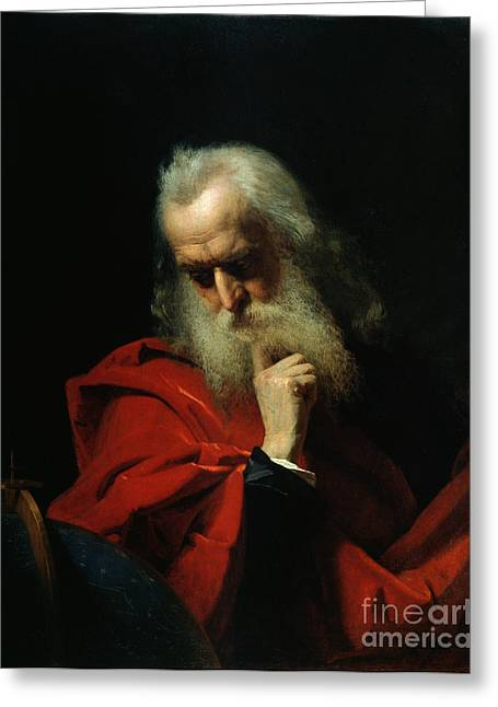 Enlightenment Greeting Cards - Galileo Galilei Greeting Card by Ivan Petrovich Keler Viliandi