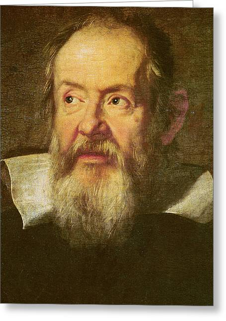 Galileo Galilei Greeting Card by Justus Sustermans