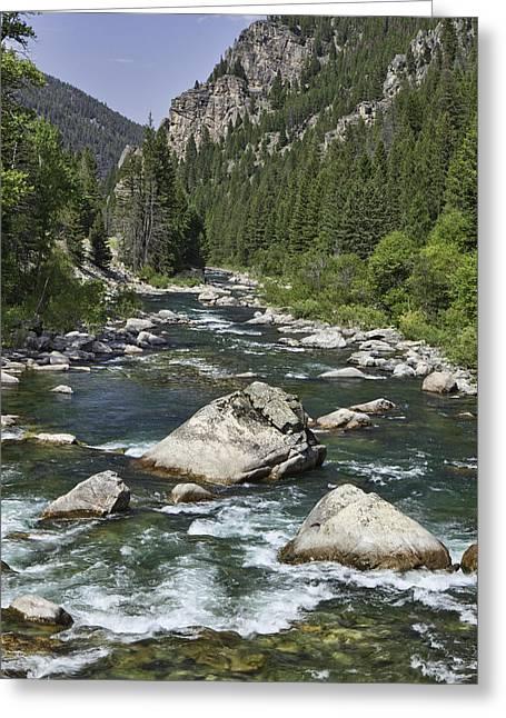 Gallatin River Greeting Cards - Gallatin River House Rock Greeting Card by Mark Harrington