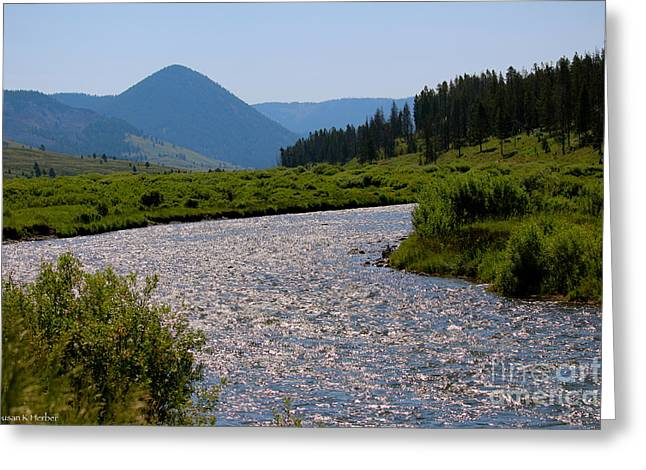Gallatin River Greeting Cards - Gallatin River Greeting Card by Susan Herber