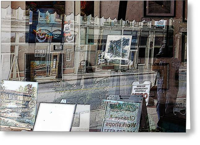 Photo Art Gallery Greeting Cards - Gallery Street Greeting Card by David Rothbart