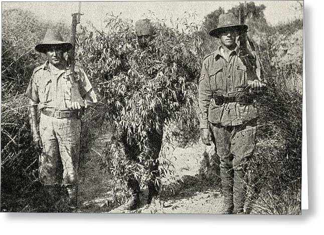 Anzac Greeting Cards - Gallipoli Campaign. A Turkish Sniper Greeting Card by Vintage Design Pics