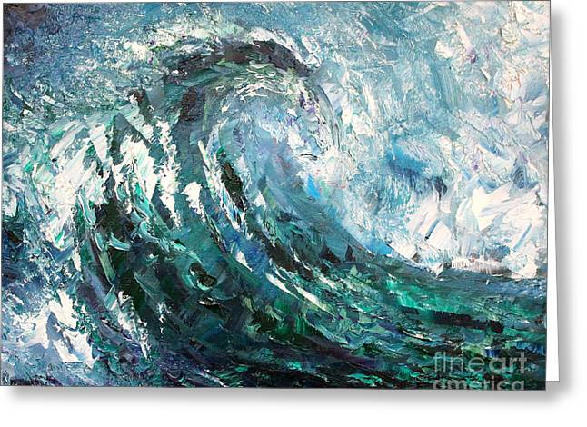 Sea Horse Greeting Cards - Galloping Wave Greeting Card by Alan Metzger