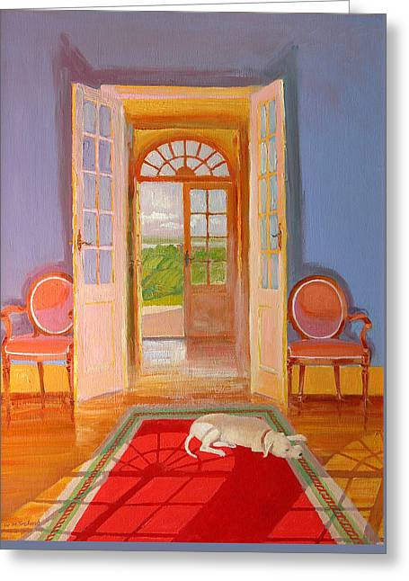 French Windows Greeting Cards - Galonne Greeting Card by William Ireland