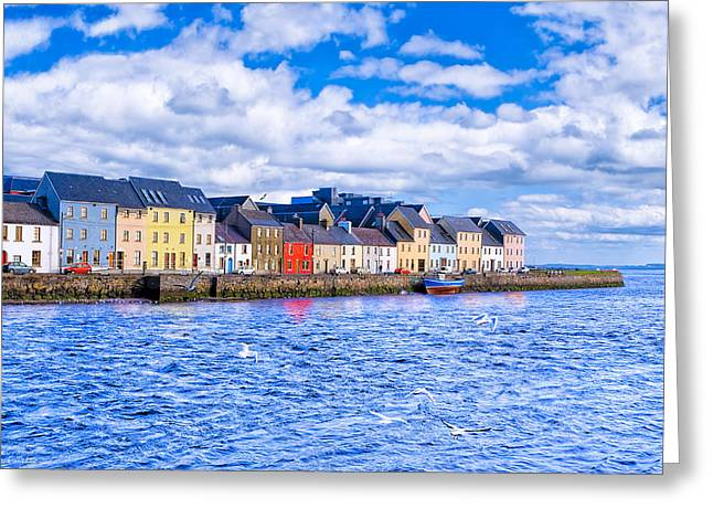 Galway Bay Greeting Cards - Galway On The Water Greeting Card by Mark E Tisdale
