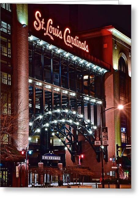 Game Day In St Louis Greeting Card by Frozen in Time Fine Art Photography