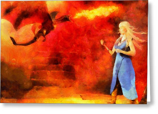 Game 7 Greeting Cards - Game of thrones 7 Greeting Card by George Rossidis
