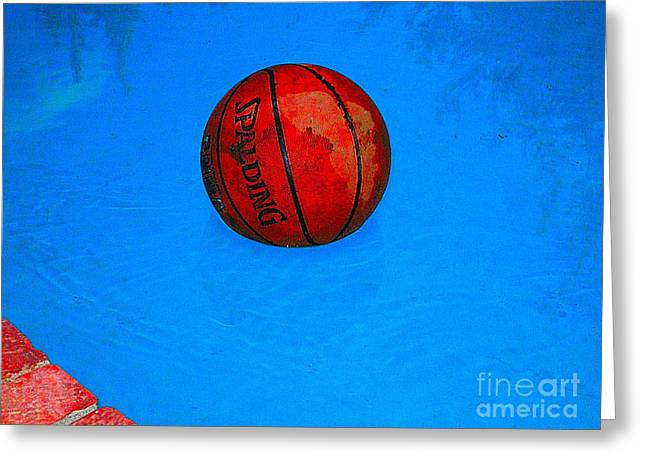 Basketballs Greeting Cards - Game On Ball Out Greeting Card by Jacqueline Howe