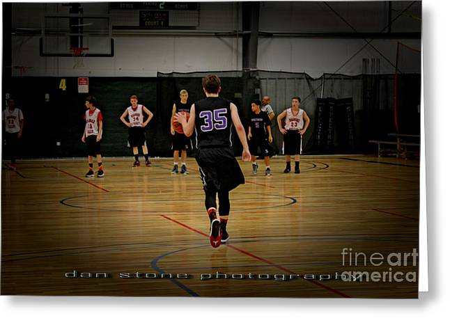 Basket Ball Game Greeting Cards - Game On Greeting Card by Dan Stone