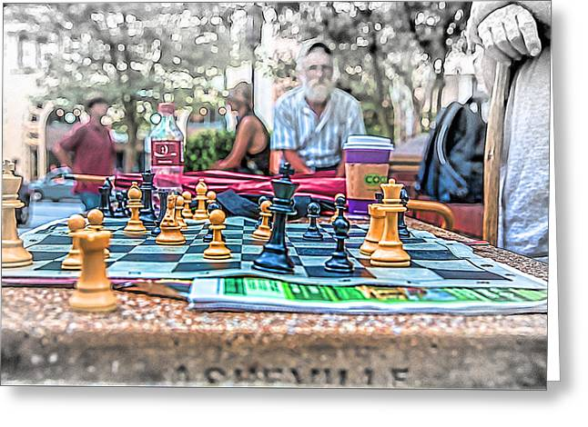 Chess Piece Digital Greeting Cards - Game On Greeting Card by John Haldane