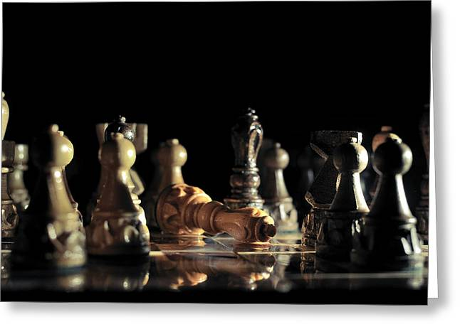 Chess Rook Greeting Cards - Game Over Greeting Card by Ivan Vukelic