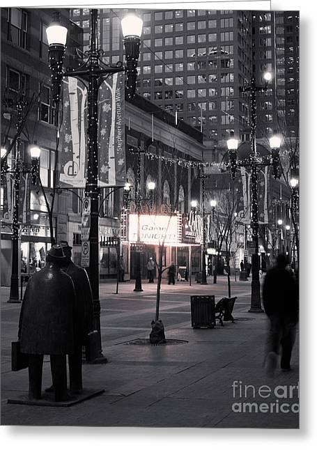Streetlight Greeting Cards - Game Tonight Greeting Card by Royce Howland