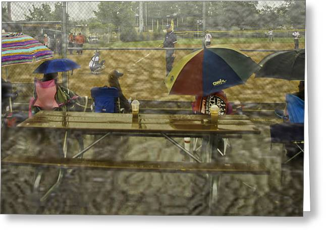 Girls Softball Greeting Cards - Game Watchers 2 Greeting Card by Dale Stillman