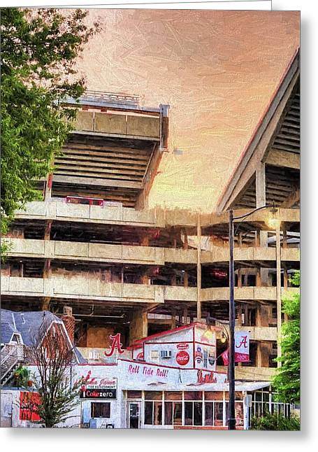 Gameday At Bryant Denny Greeting Card by JC Findley