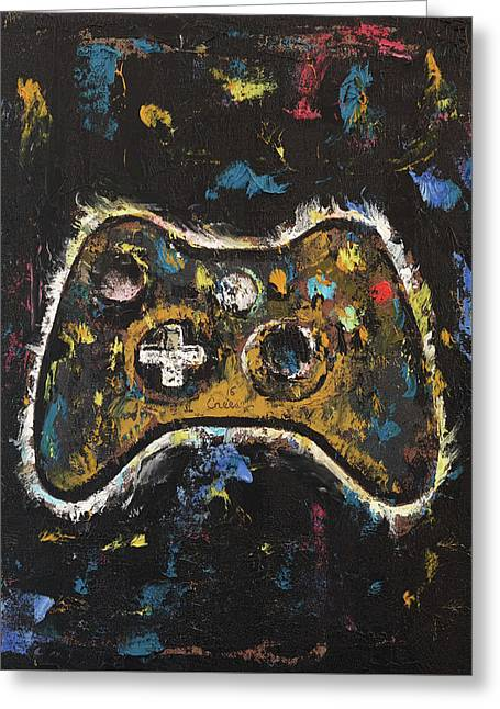 Gamer Greeting Card by Michael Creese
