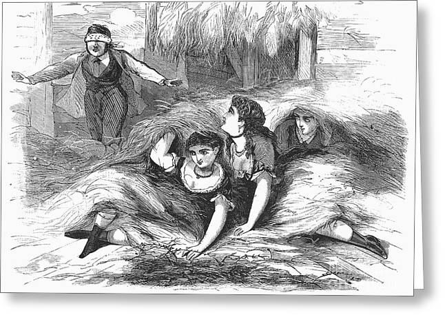 Games: Hide And Seek, 1887 Greeting Card by Granger
