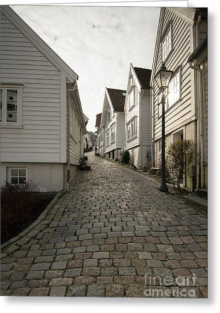 Gamle Stavanger Greeting Card by Anne Gilbert