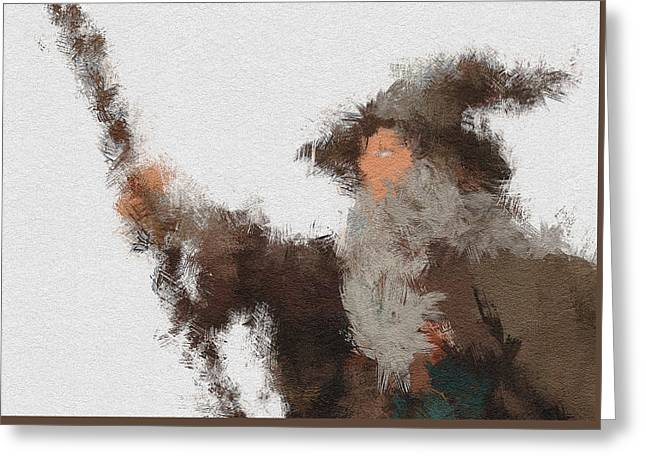 Gandalf The Grey Greeting Card by Miranda Sether