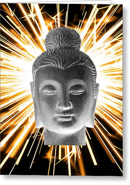 Print Sculptures Greeting Cards - Gandhara Enlightenment Greeting Card by Terrell Kaucher
