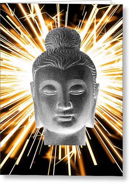 Choosing Sculptures Greeting Cards - Gandhara Enlightenment Greeting Card by Terrell Kaucher