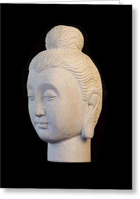 Buddhism Sculptures Greeting Cards - Gandhara L Greeting Card by Terrell Kaucher