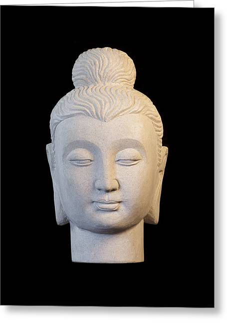 Buddhism Sculptures Greeting Cards - Gandhara C Greeting Card by Terrell Kaucher