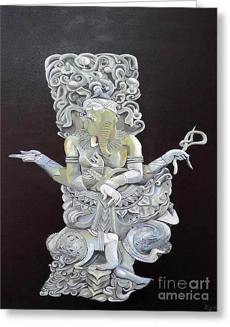 Ganesh The Elephant God Greeting Card by Eric Kempson