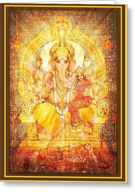 Ganesha Ganapati  Greeting Card by Ananda Vdovic