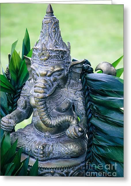 Vinayaka Greeting Cards - Ganesha Ganesa Ganapati Vinayaka Pillaiyar Hindu Pantheon Greeting Card by Sharon Mau