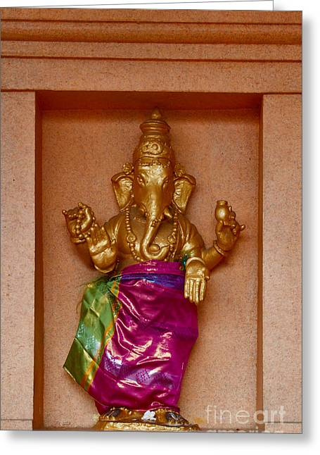 Ganapati Greeting Cards - Ganesha Greeting Card by Louise Heusinkveld