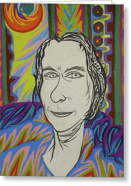 Wife Pastels Greeting Cards - Gang of Four - Agata Sorensen Greeting Card by Robert  SORENSEN