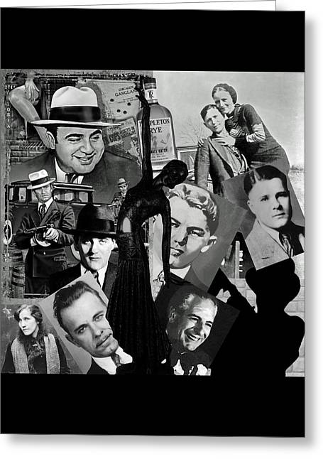Capone Greeting Cards - Gangland Greeting Card by Ellen Henneke