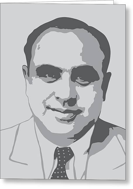 Gangster - Al Capone Greeting Card by War Is Hell Store