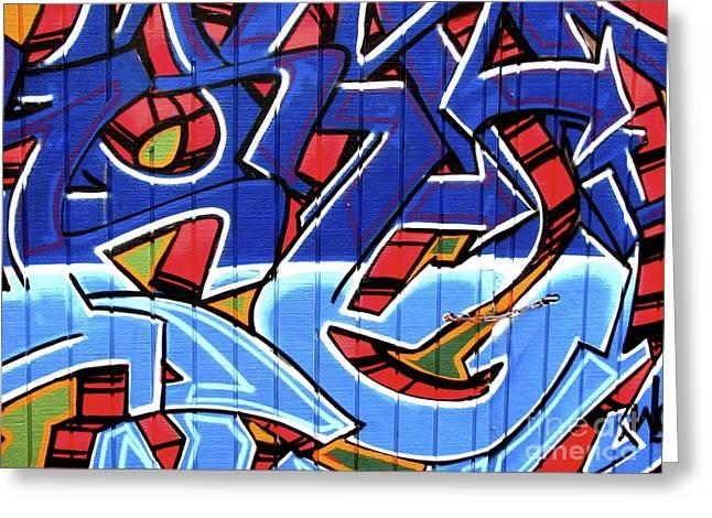 Street Graffiti Greeting Cards - Garage door Greeting Card by Derek Selander