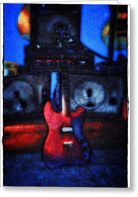 Jetstar Digital Art Greeting Cards - Garage Rock Greeting Card by Bill Cannon