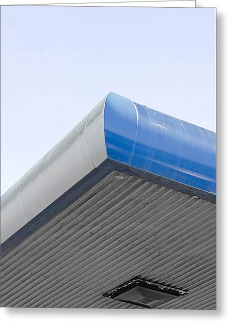 Garage Roof Greeting Card by Tom Gowanlock