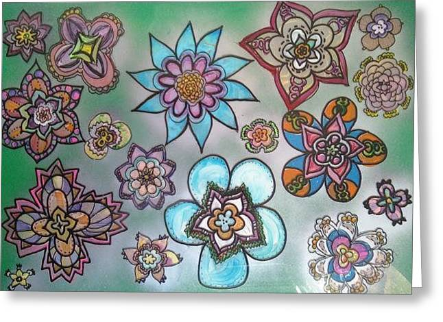 Blossoming Glass Greeting Cards - Garden 2 Greeting Card by Alexa Soules