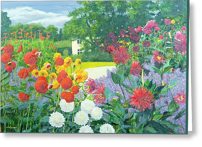 Garden And House Greeting Card by William Ireland