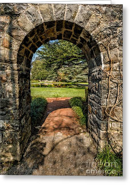 Exits Greeting Cards - Garden Archway Greeting Card by Adrian Evans
